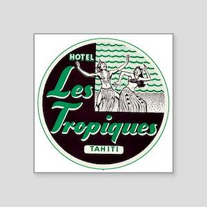 Les Tropiques (Tahiti) Luggage Sticker (UnTrimmed)