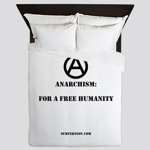 For A Free Humanity Queen Duvet