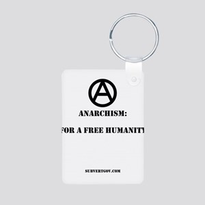 For A Free Humanity Aluminum Photo Keychain