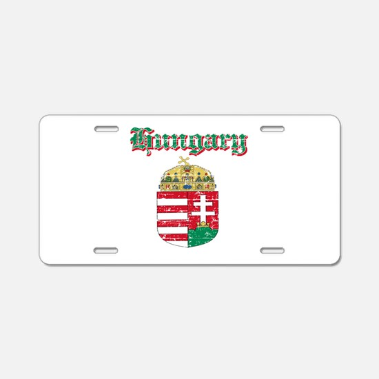 Hungary Coat of arms Aluminum License Plate