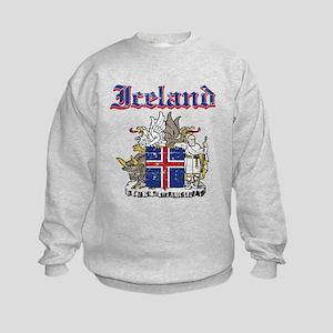 Iceland Coat of arms Kids Sweatshirt