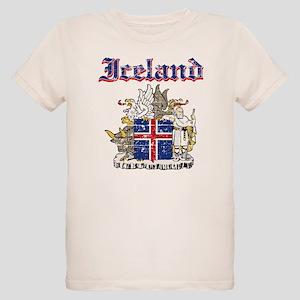 Iceland Coat of arms Organic Kids T-Shirt