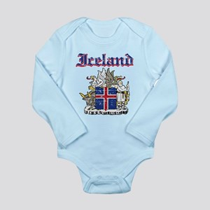 Iceland Coat of arms Long Sleeve Infant Bodysuit
