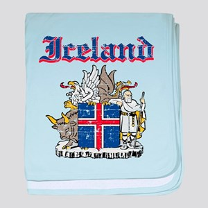 Iceland Coat of arms baby blanket