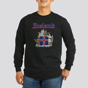 Iceland Coat of arms Long Sleeve Dark T-Shirt