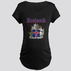Iceland Coat of arms Maternity Dark T-Shirt