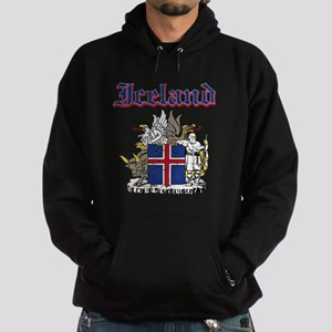 Iceland Coat of arms Hoodie (dark)