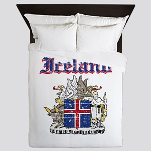 Iceland Coat of arms Queen Duvet