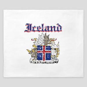 Iceland Coat of arms King Duvet