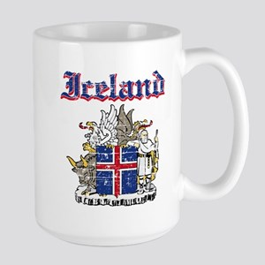 Iceland Coat of arms Large Mug