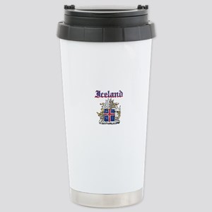 Iceland Coat of arms Stainless Steel Travel Mug