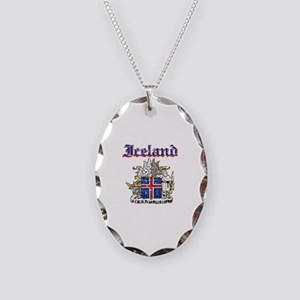 Iceland Coat of arms Necklace Oval Charm