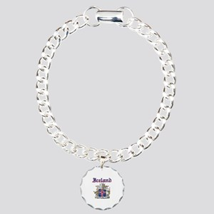 Iceland Coat of arms Charm Bracelet, One Charm