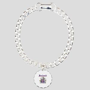 Iceland Coat of arms Charm Bracelet, One Charm