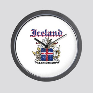 Iceland Coat of arms Wall Clock