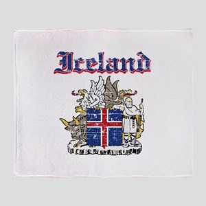 Iceland Coat of arms Throw Blanket