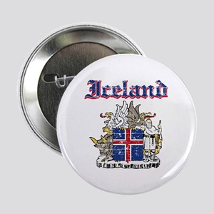"""Iceland Coat of arms 2.25"""" Button"""