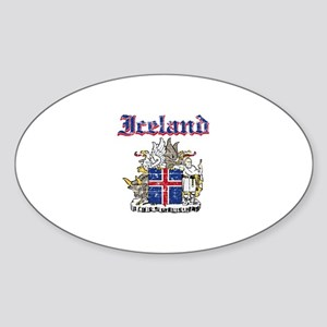 Iceland Coat of arms Sticker (Oval)