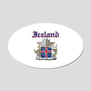 Iceland Coat of arms 20x12 Oval Wall Decal