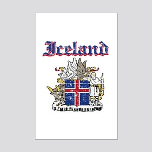 Iceland Coat of arms Mini Poster Print