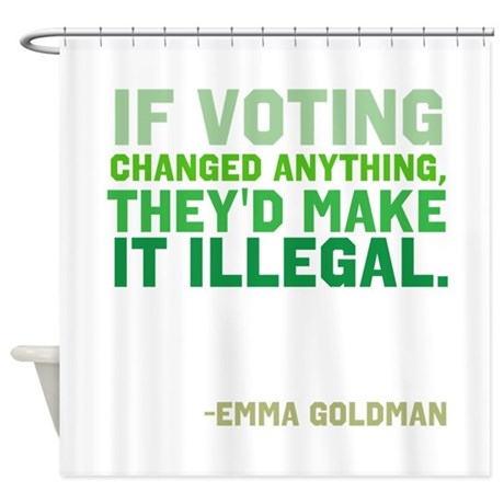 If Voting Changed Anything... Shower Curtain