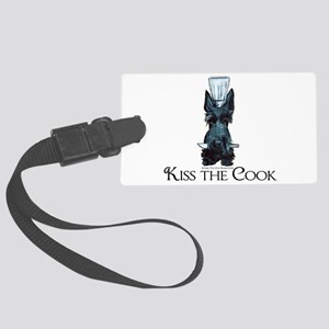 Scottie Kiss the Cook Large Luggage Tag