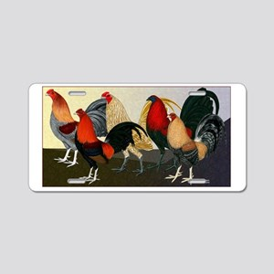 Rooster Dream Team Aluminum License Plate
