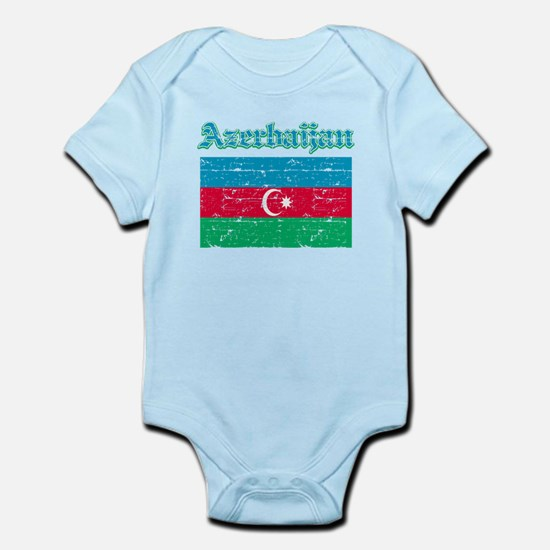 Azerbaijan Flag Designs Infant Bodysuit
