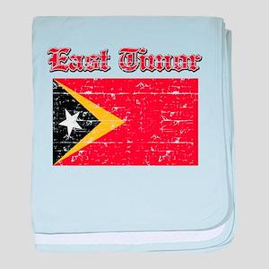 East Timor Flag Designs baby blanket