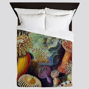 Ernst Haeckel Sea Anemones Queen Duvet