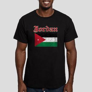 Jordan Flag Designs Men's Fitted T-Shirt (dark)