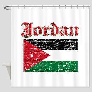 Jordan Flag Designs Shower Curtain
