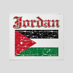 Jordan Flag Designs Throw Blanket