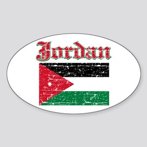 Jordan Flag Designs Sticker (Oval)