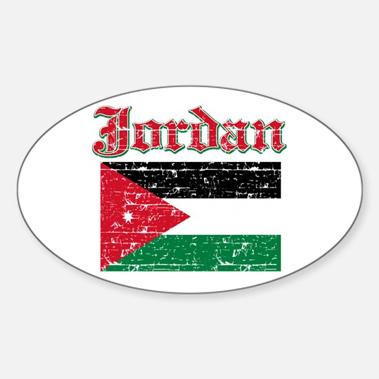 Jordan Flag Designs Sticker (Oval)