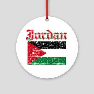 Jordan Flag Designs Ornament (Round)