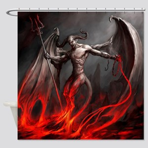 Demon Shower Curtain