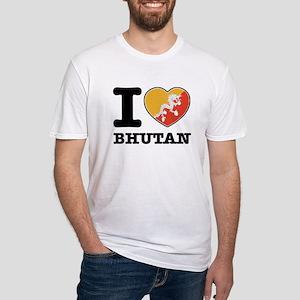 I heart Bhutan Fitted T-Shirt