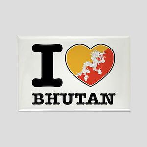 I heart Bhutan Rectangle Magnet