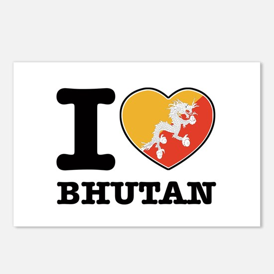 I heart Bhutan Postcards (Package of 8)