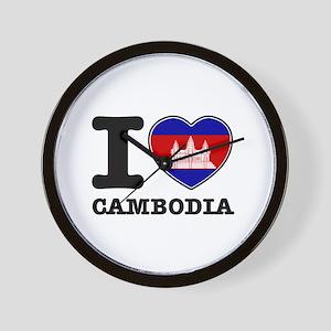 I heart Cambodia Wall Clock