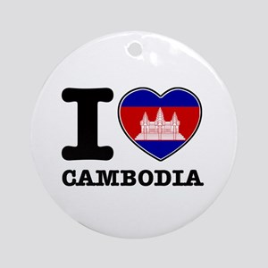 I heart Cambodia Ornament (Round)