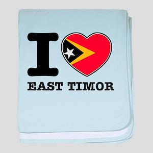 I heart East Timor baby blanket