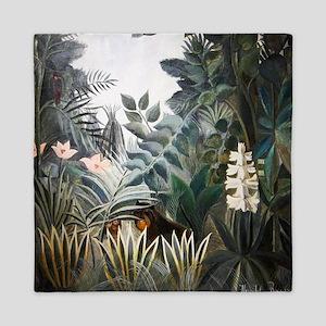 Henri Rousseau Rain Forest Queen Duvet