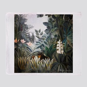 Henri Rousseau Rain Forest Throw Blanket