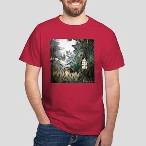 Henri Rousseau Rain Forest Dark T-Shirt