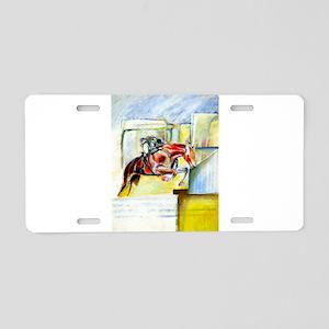Equestrian - horse art Aluminum License Plate