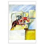 Equestrian - horse art Large Poster