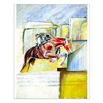 Equestrian - horse art Small Poster