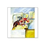 "Equestrian - horse art Square Sticker 3"" x 3"""